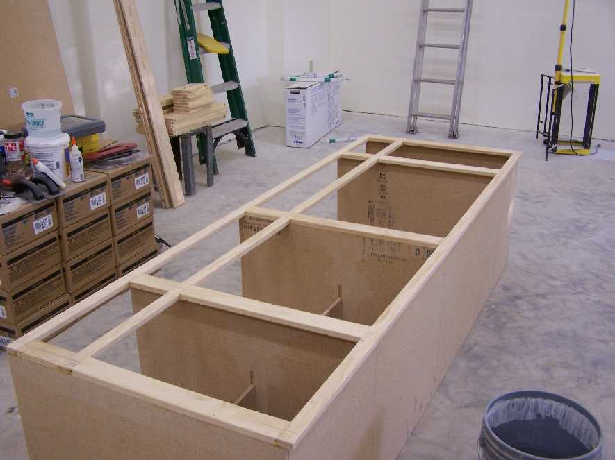 The Kitchen Cabinets Are Taking Shape In The Cabinet Shop. This One Will  Eventually Hold The Sink.